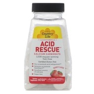 Country Life, Acid Rescue, кальция карбонат, 1000 мг, 60 жевательных таблеток