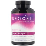 Neocell, Super Collagen + C, добавка с коллагеном и витамином C, 250 таблеток