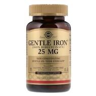 Solgar, Gentle Iron, 25 мг, 180 растительных капсул