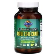 Garden of Life, Vitamin Code, кальций RAW, 60 вегетарианских капсул