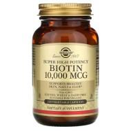 Solgar, Биотин сверхвысокой эффективности, 10 000 мкг