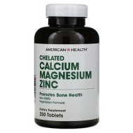 American Health, Chelated Calcium Magnesium Zinc, 250 таблеток