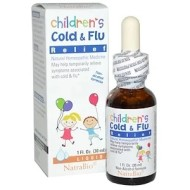 NatraBio, Средство от простуды и гриппа для детей с эхинацеей, 30 мл