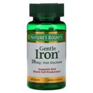 Nature's Bounty, Железо мягкого действия, 28 мг